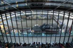 view on Thames from Sky Garden
