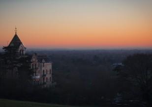 Sunset view at Richmond Park